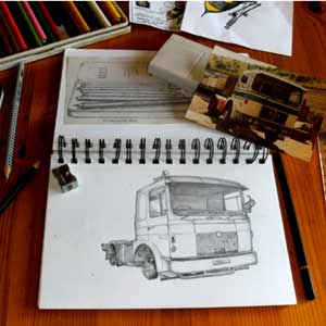 my sketching of vehicles